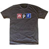 NPR® Black Distressed Logo T-Shirt Thumbnail
