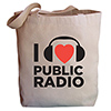 "I ""heart"" Public Radio Tote Bag Thumbnail"