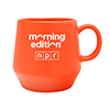 Morning Edition® Orange 16 Ounce Ceramic Mug Thumbnail