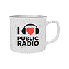 "I ""heart"" Public Radio Ceramic Camp Mug Thumbnail"